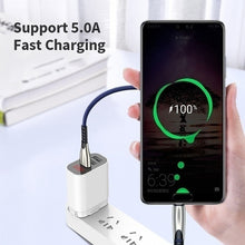 Load image into Gallery viewer, 5A USB Type C Fast Charging Cable For Huawei Samsung S8 S9 S10 Alloy Braided Micro USB Charger Cord Data Sync Cable For Android/Type-C Phone