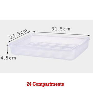 24/34 Compartment Plastic Single-Layer Egg Preservation Tray Fresh Box with Lid Eggs Holder Egg Storage Container