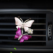 Load image into Gallery viewer, 1 Pcs Car Perfume Decoration Fragrance Natural Smell Air Freshener Auto Accessories Butterfly Camellia Sunflower Air Conditioner Outlet Clip