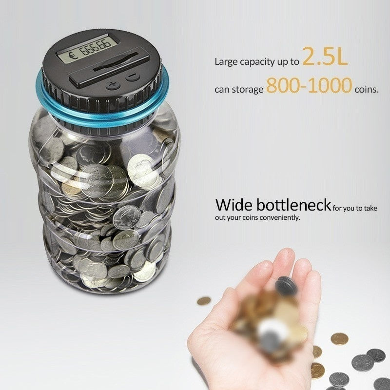 Creative Piggy Bank Digital Electronic Counter Coin Count LED Display Coin Savings Box Money Box Storage Box for USD EURO GBP