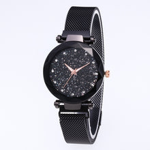 Load image into Gallery viewer, Luxury Starry Sky Women Watches Rose Gold Bracelet Rhinestones Quartz Ladies Watch Thin Female Waistwatch Christmas Gift