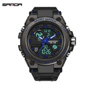 Men's Military S Shock Watch Outdoor Sports Electronic Watch Tactical Army Wristwatch LED Stopwatch Waterproof Digital Analog Watches Relogio Masculino