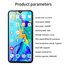 Load image into Gallery viewer, NEW Upgrade P30 Pro 6.3 Inch Screen Android Phone 6GB+256GB Bluetooth Wifi 8MP+16 MP Dual Camera Mobile Phone 10 Core 4G Smart Phone
