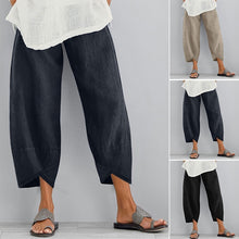 Load image into Gallery viewer, ZANZEA Fashion Women Long Pants Casual Loose Pure Color Wide Legs Harem Pants Plain Trousers Plus Size