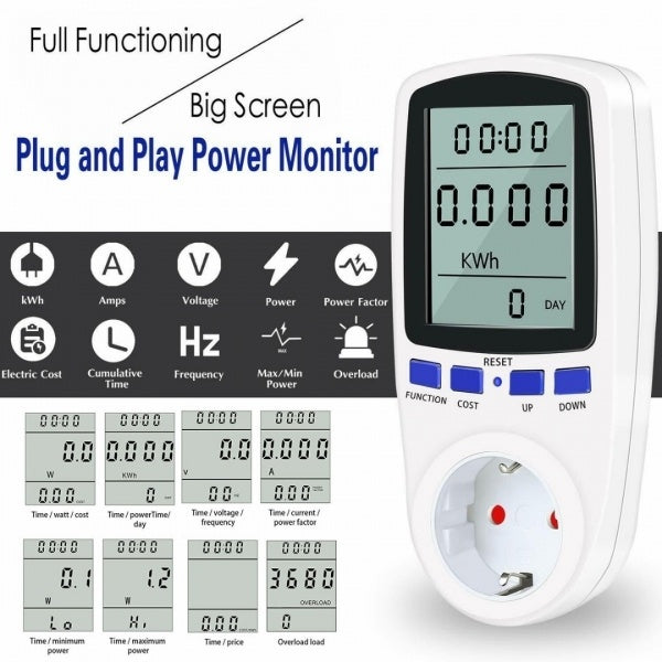 1PC Digital Energy Meter KWh Meter Wattmeter Electric Meter 230V 16A 50Hz New