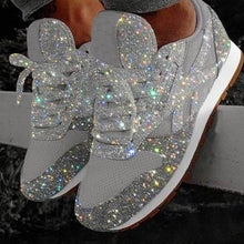 Load image into Gallery viewer, Walking Shoes Womens Sneakers Rhinestone Shoes Crystal Sneakers Platform Sneakers No-slip Running Shoes Plus Size
