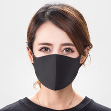 Load image into Gallery viewer, (1/3/5/10Pcs) 3 Layers Anti-Dust Mask Dustproof Face Mask Washable Facial Mask Protect Against Fashion Black Mask