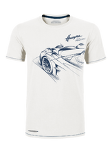 Load image into Gallery viewer, ROADSTER 男士 T-SHIRT 車 素描 3/4-白