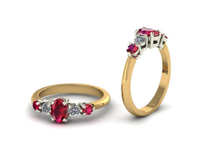 Ruby/Diamonds Dressing ring
