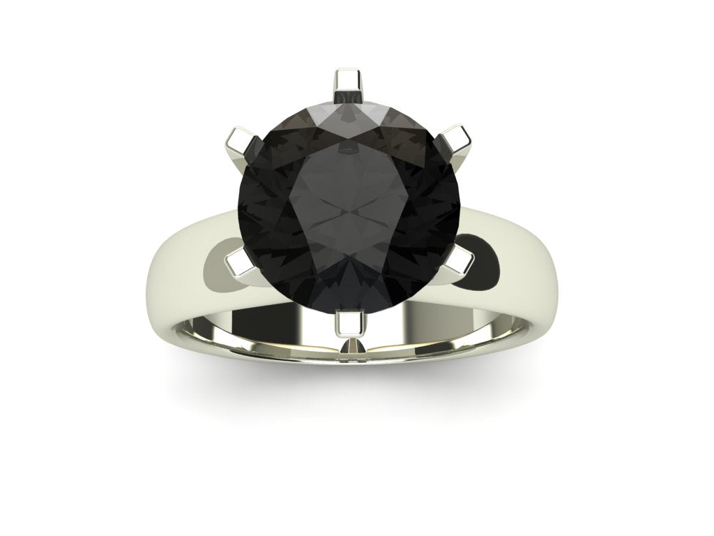 3 ct Black Diamond Solitaire