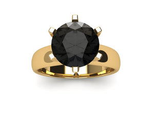 3 ct Black Diamond ring
