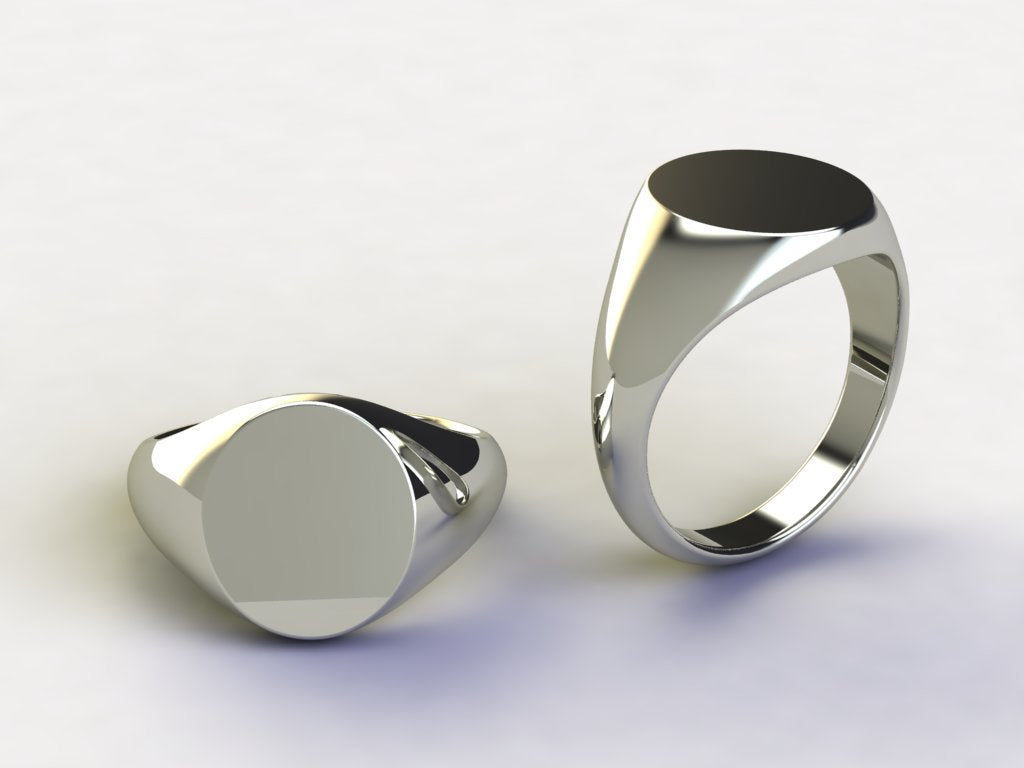 Plain Oval Gent Rings