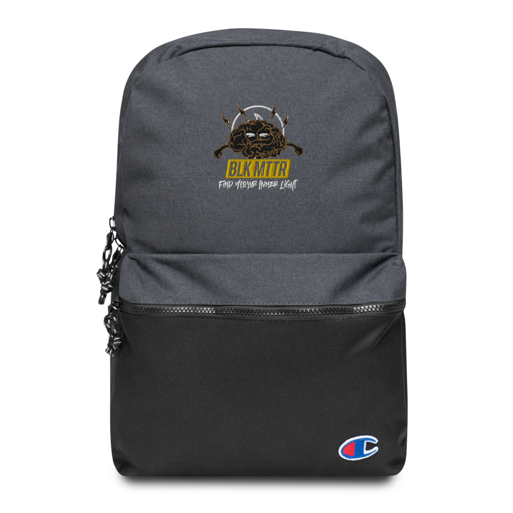 BLK & GLD Embroidered Champion Backpack