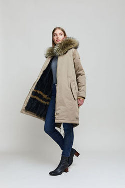Upcycling old mink coats to a parka