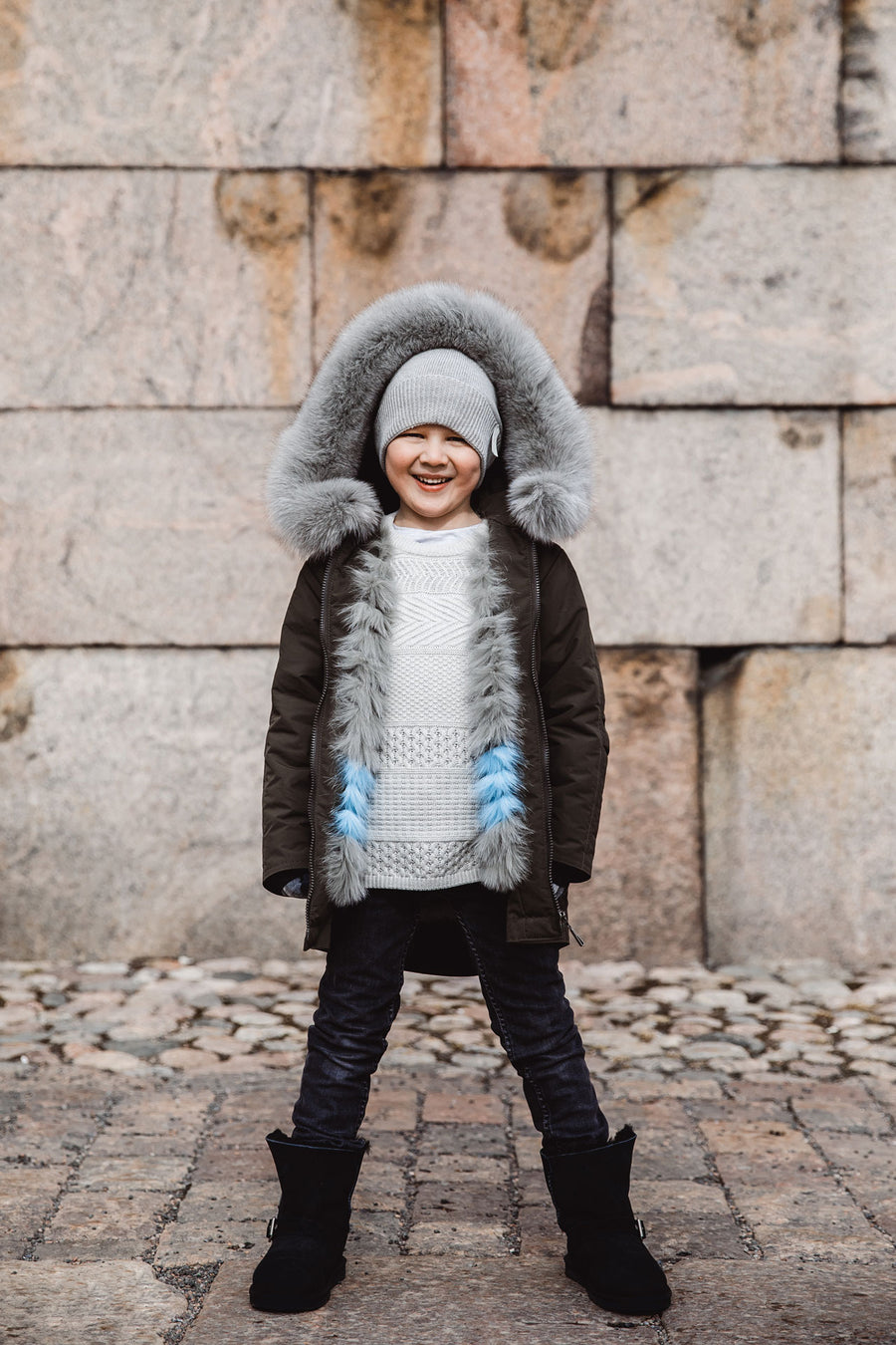 KID'S PARKA WITH FUR LINING