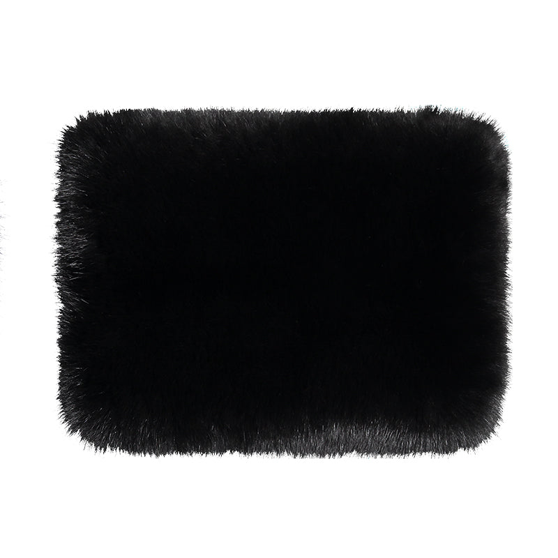 LARGE FOLDED FUR CLUTCH