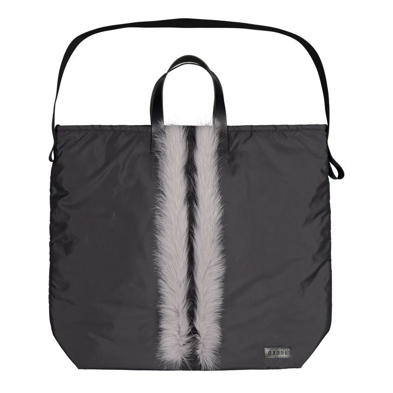 MAXI SHOPPER WITH FUR TRIM