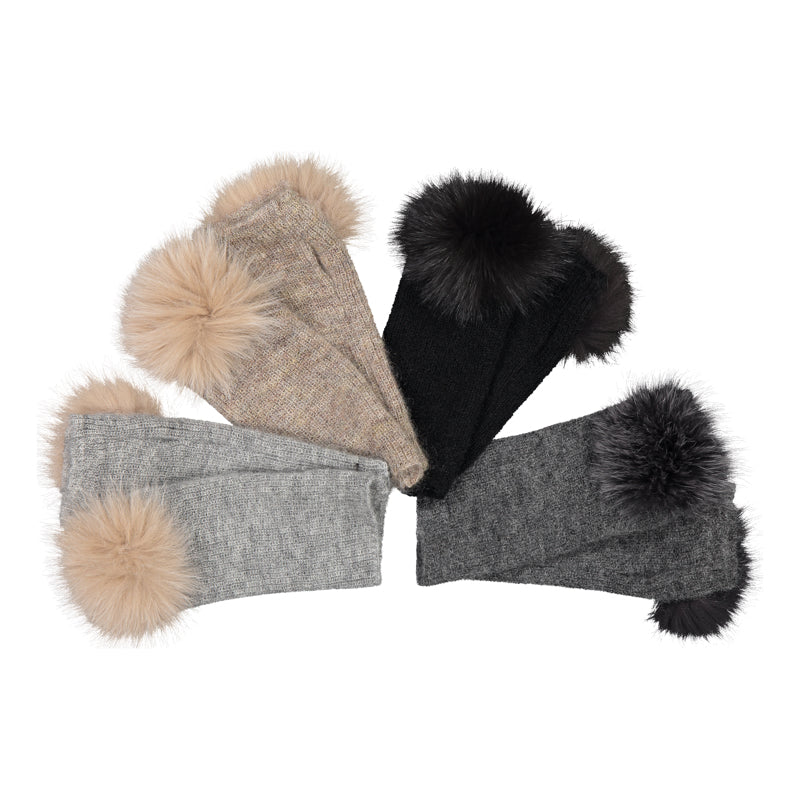 FINGERLESS GLOVES WITH FUR DETAIL