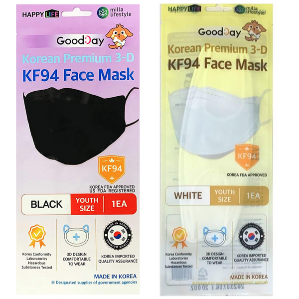 [Happylife] GooddayKF94 (White -50PCS, Black-50PCS)