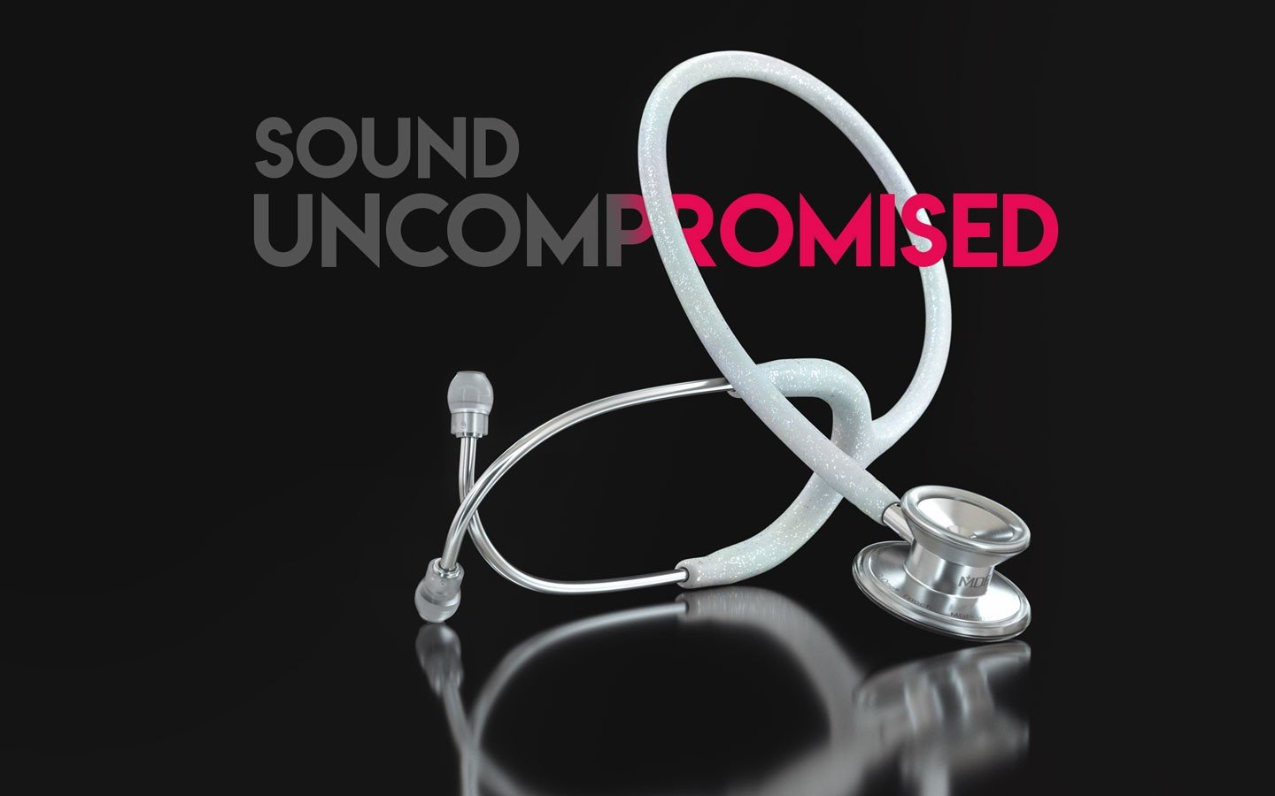 Lightweight Titanium MD One Traditional Style Dual Head Stethoscope Sound Uncompromised