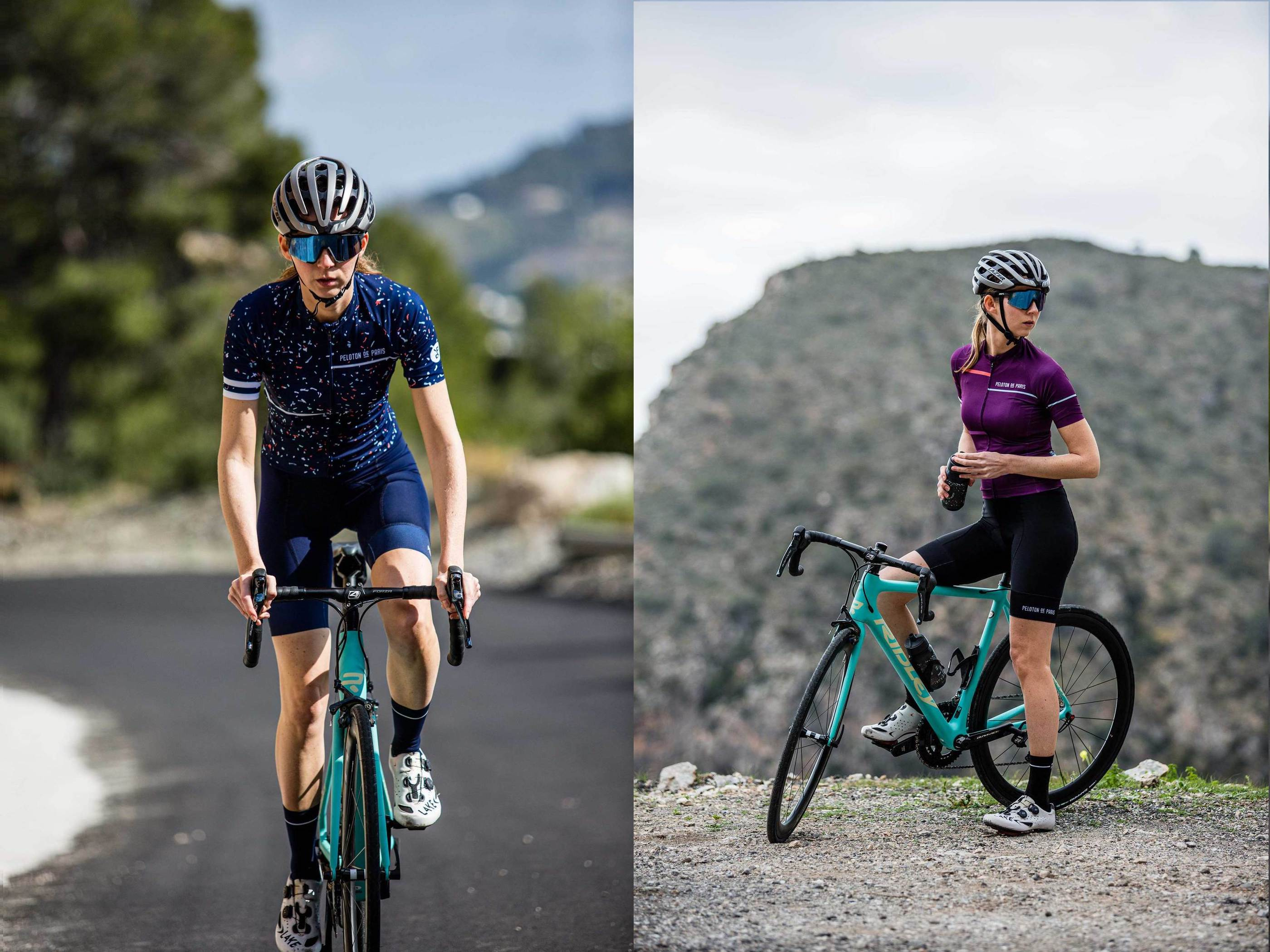Peloton de Paris Laser Deep Purple Domestique レディースサイクルジャージ | CYCLISM