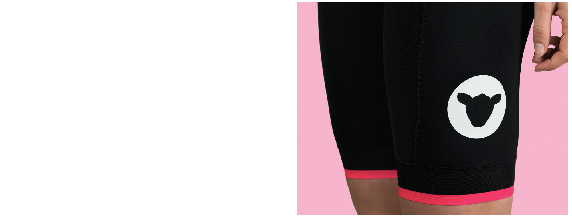 Black Sheep Cycling Essentials レディースサイクルビブショーツ - Black/Neon Pink | CYCLISM