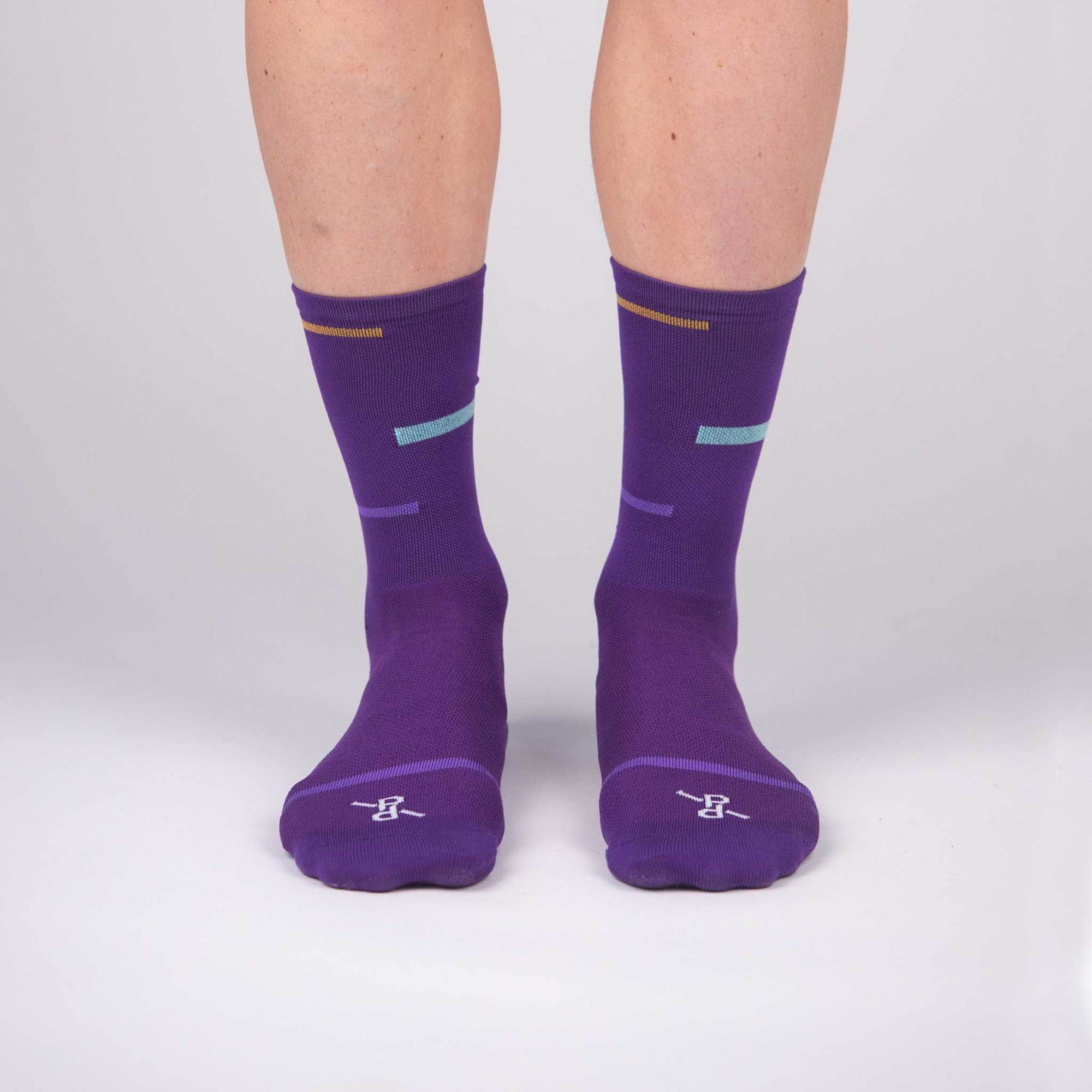 Peloton de Paris Laser Purple PLTN サイクルソックス | CYCLISM
