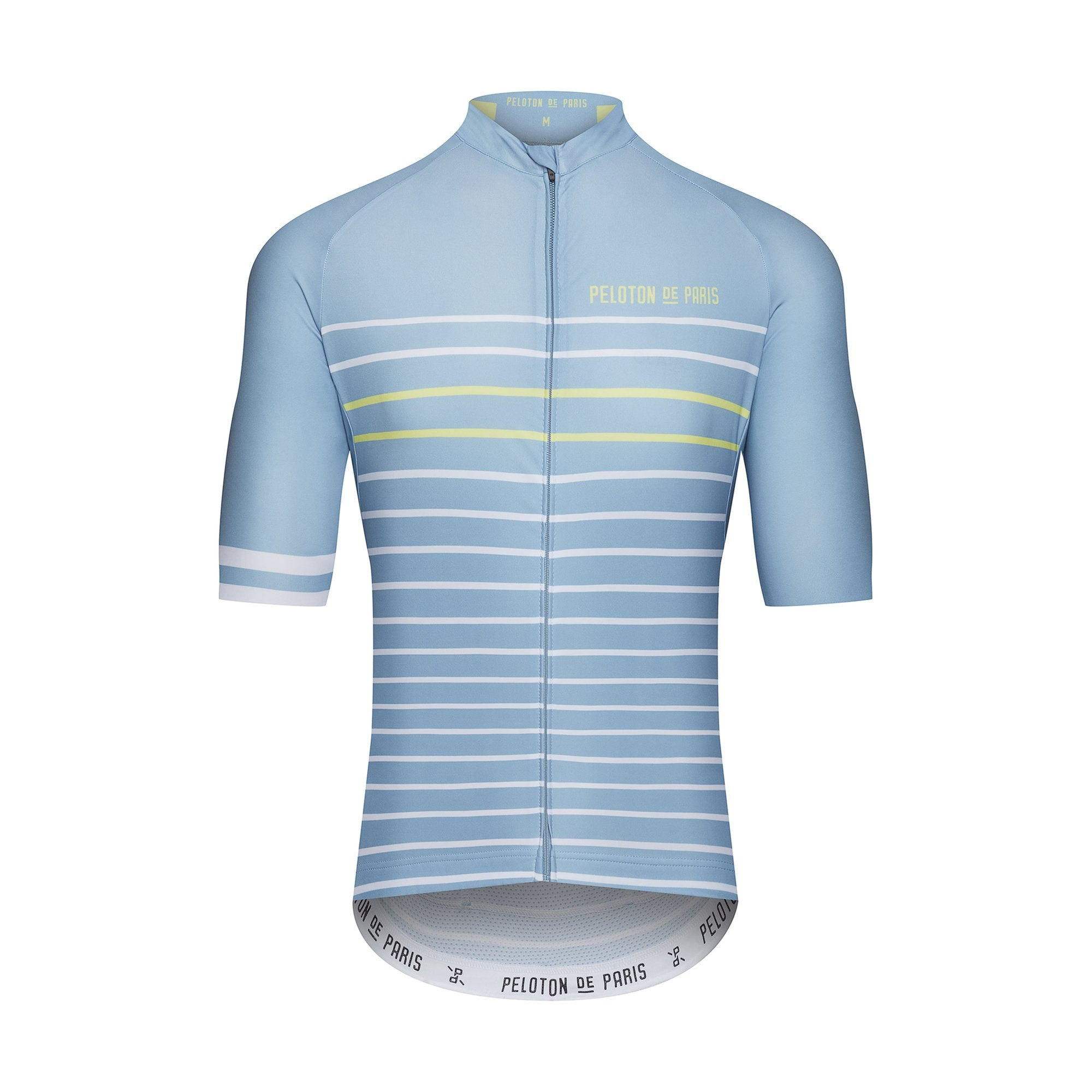 Peloton de Paris Classic Stripe Blue Stone/Pineapple Domestique サイクルジャージ  | CYCLISM