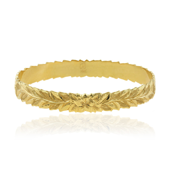 Deep Cut Maile 10mm Bangle - Philip Rickard