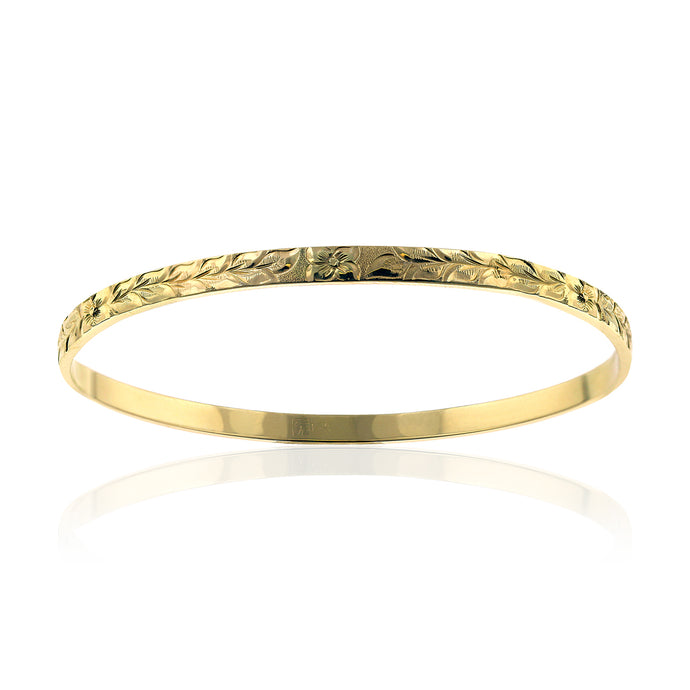 Maile 4mm Flat Bangle - Philip Rickard