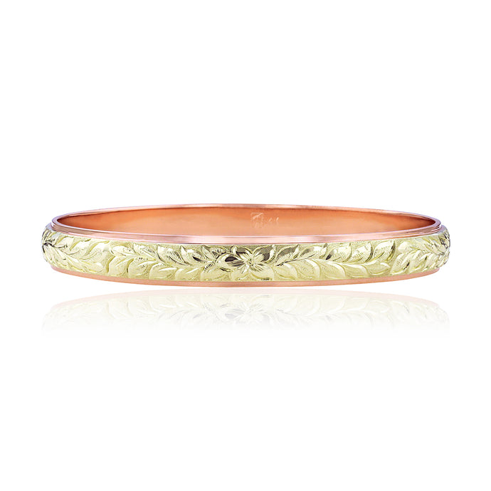 Two-Tone Shiny Maile 6mm Bangle - Philip Rickard
