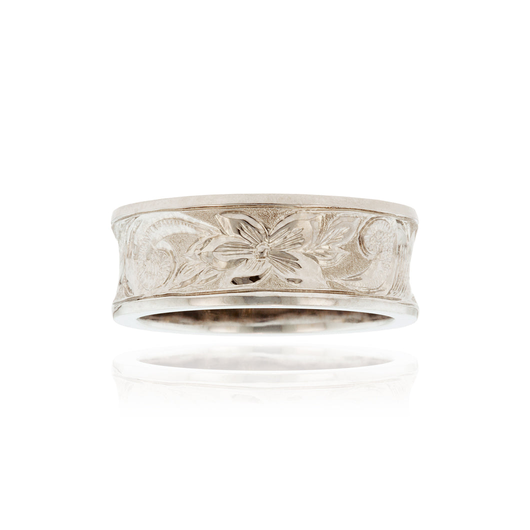Old English Concave 8mm Ring - Philip Rickard