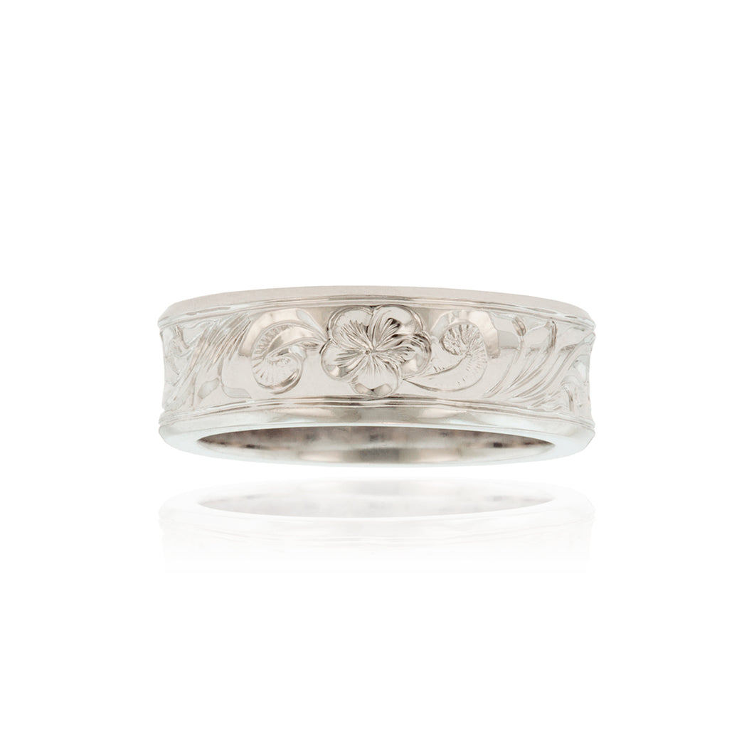 Old English Concave 6mm Ring - Philip Rickard