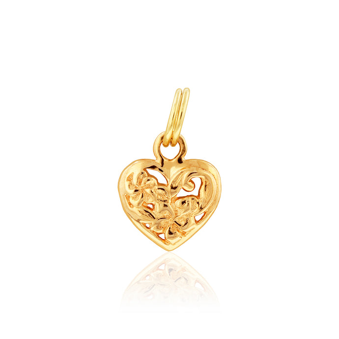 Filigree Heart Charm - Philip Rickard