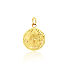 Load image into Gallery viewer, Round Charm W/ Initial & Plumeria - Philip Rickard