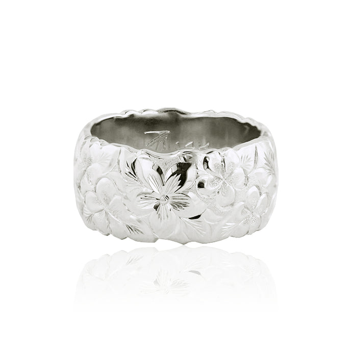 Millennium Flowers Scalloped 10mm Ring - Philip Rickard