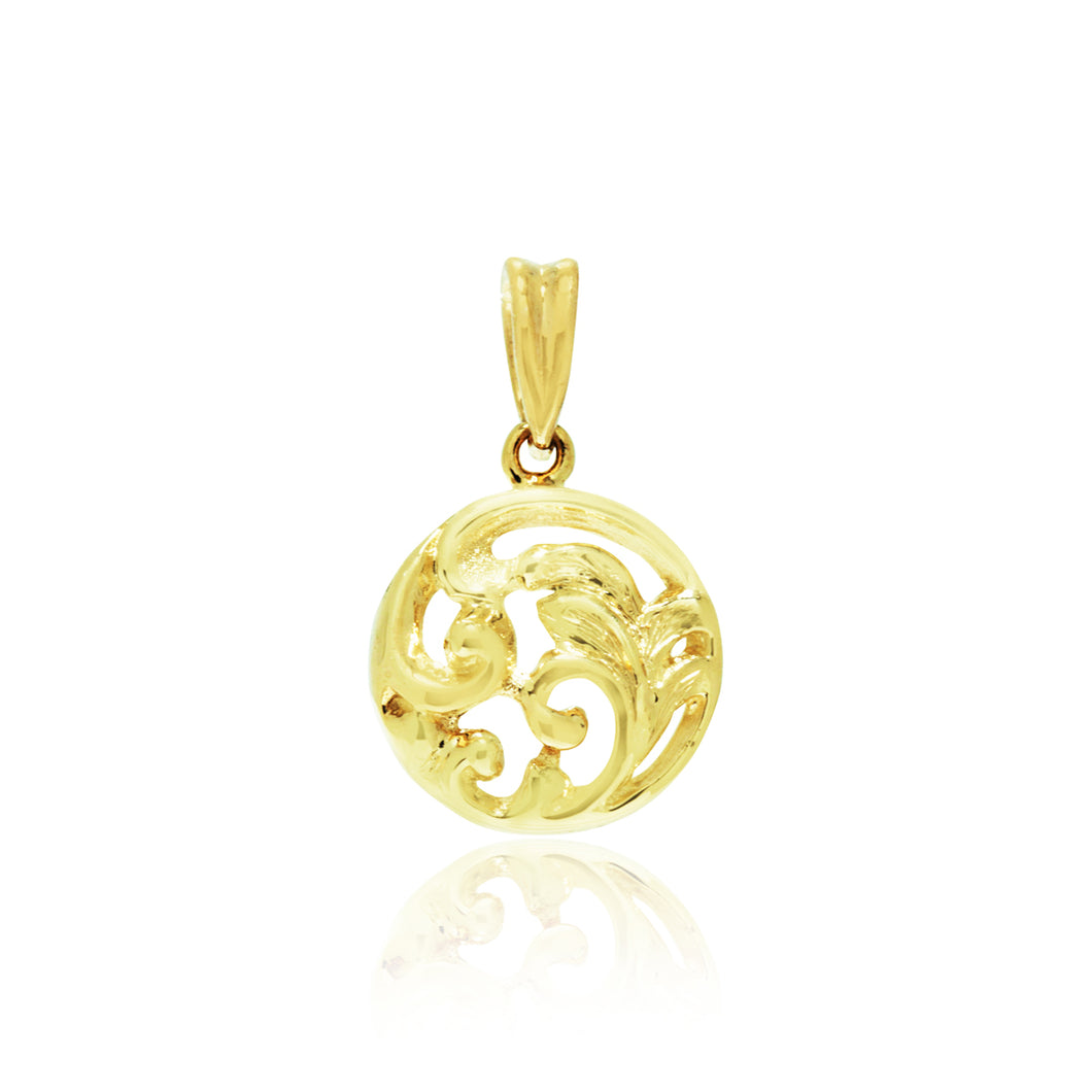 Old English Round Filigree Pendant - Philip Rickard