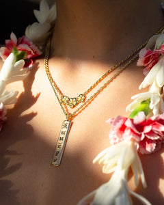 Three Plumeria Necklace - Philip Rickard
