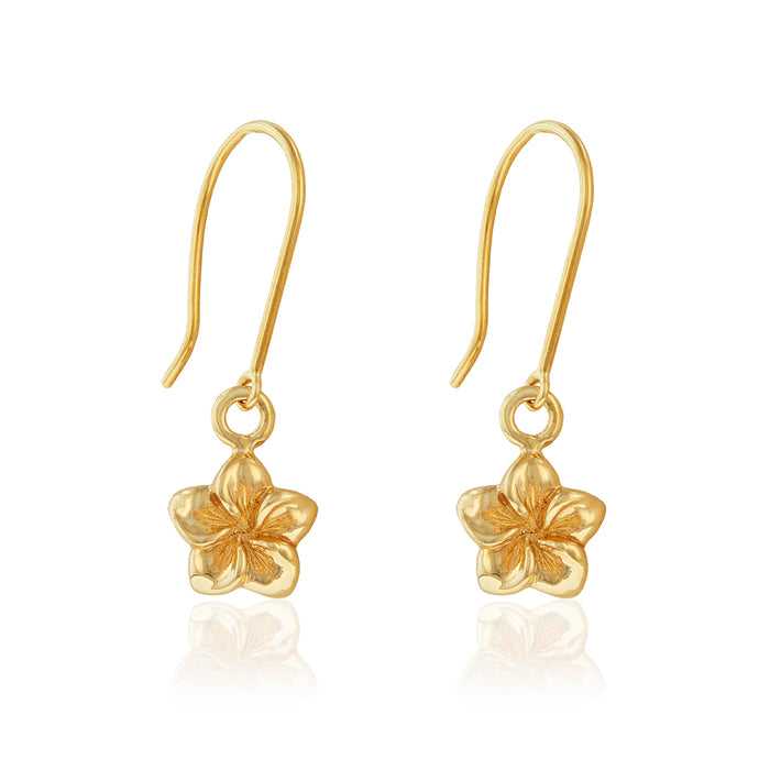 Small Plumeria Dangle Earrings - Philip Rickard