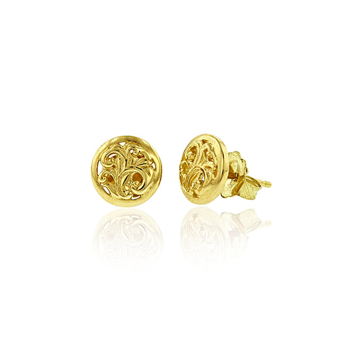 Round Filigree Earrings - Philip Rickard