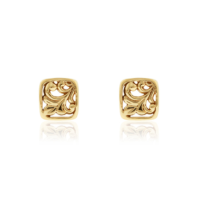 Square Filigree Earrings - Philip Rickard