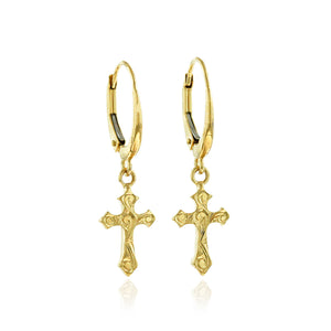Byzantine Cross Dangle Earrings - Philip Rickard