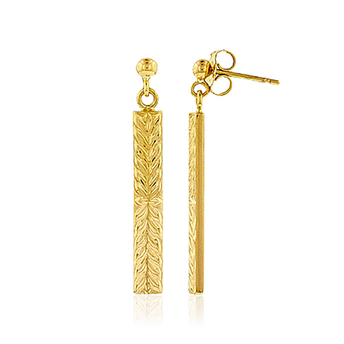 Iolani Maile 4mm Dangle Earrings - Philip Rickard