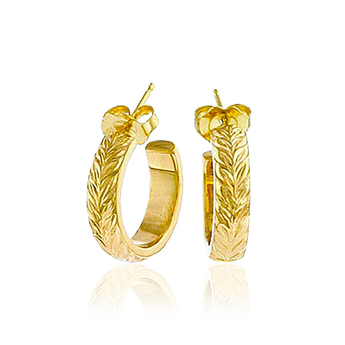 Iolani Maile Hoop Earrings - Philip Rickard