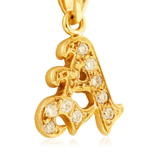 Initial Pendant w/ Diamonds - Philip Rickard