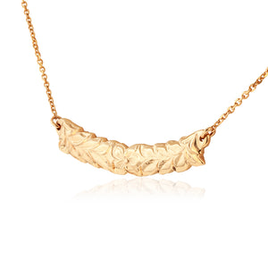 Scalloped Maile Necklace - Philip Rickard