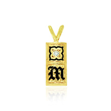 Load image into Gallery viewer, Initial 8mm Pendant W/ Enamel Flower & Diamond - Philip Rickard
