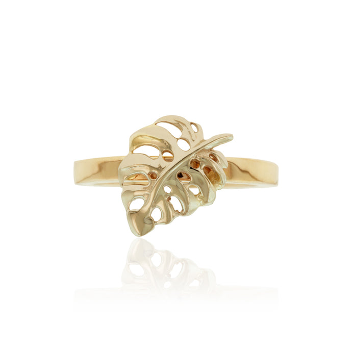 Two-Tone Monstera Ring - Philip Rickard