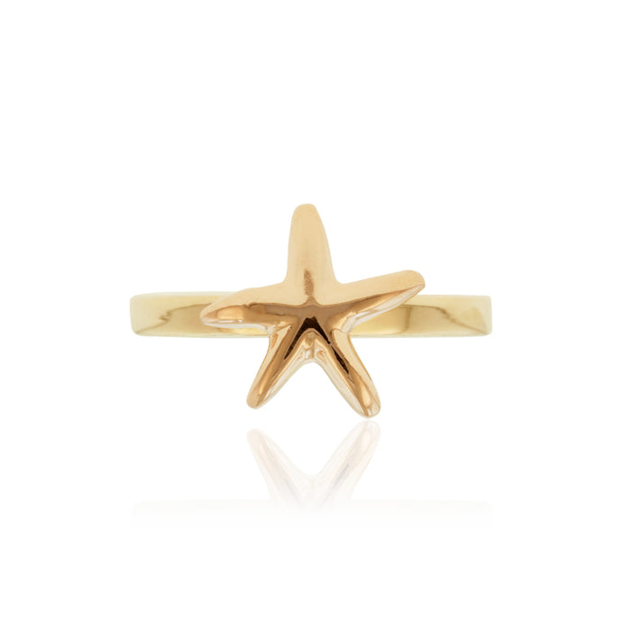Two-Tone Starfish Ring - Philip Rickard