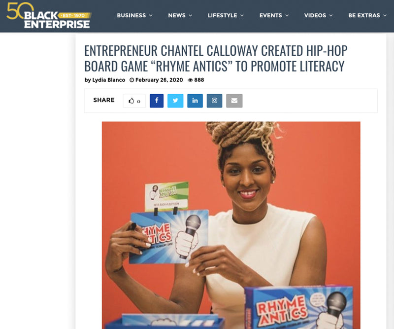 "Entrepreneur Chantel Calloway Created Hip-hop Board Game ""Rhyme Antics"" To Promote Literacy"